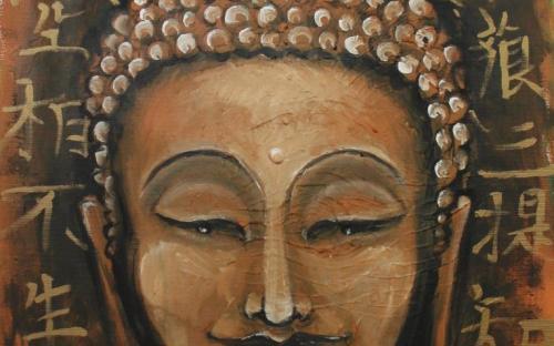 Healing Art - Buddha con Sutra del Cuore